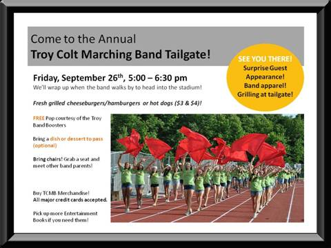 Troy Colt Marching Band Tailgate
